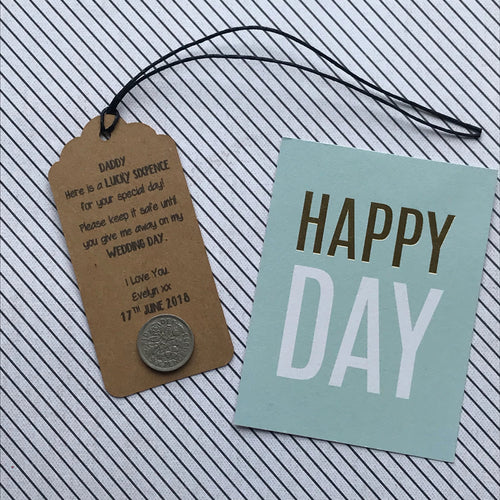 Lucky Sixpence Gift Tag For Dad-The Persnickety Co