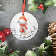 Load image into Gallery viewer, Personalised Christmouse Hanging Decoration-7-The Persnickety Co