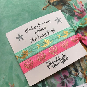 Personalised Mer-Mazing Party Hair Tie-4-The Persnickety Co