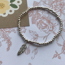 Load image into Gallery viewer, Beaded Charm Bracelet - Feathers Appear When Angels Are Near-6-The Persnickety Co