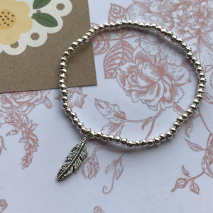 Beaded Charm Bracelet - Feathers Appear When Angels Are Near-6-The Persnickety Co