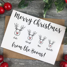 Load image into Gallery viewer, Personalised Reindeer Cards-2-The Persnickety Co