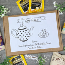 Load image into Gallery viewer, Tea-Riffic Friend Personalised Tea and Biscuit Box-5-The Persnickety Co