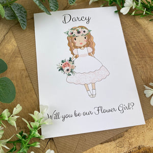 Wedding Card - Will You Be Our Flower Girl?-7-The Persnickety Co