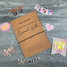 Load image into Gallery viewer, Sweet 16th Wish Bracelet-The Persnickety Co