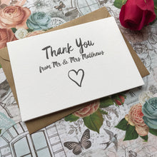 Load image into Gallery viewer, Thank You Wedding Card-5-The Persnickety Co