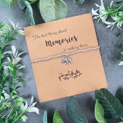 The Best Thing About Memories - Beaded Bracelet-The Persnickety Co