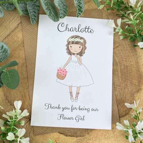 Wedding Card - Thank You For Being Our Flower Girl-The Persnickety Co
