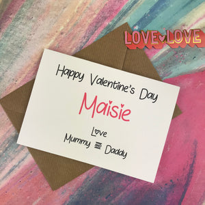Personalised Happy Valentine's Day From Mummy And Daddy Card-3-The Persnickety Co