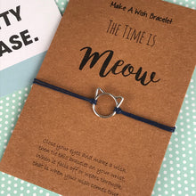 Load image into Gallery viewer, The Time is Meow Cat Wish Bracelet-4-The Persnickety Co