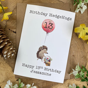 Birthday Hedgehugs - Personalised Card-The Persnickety Co