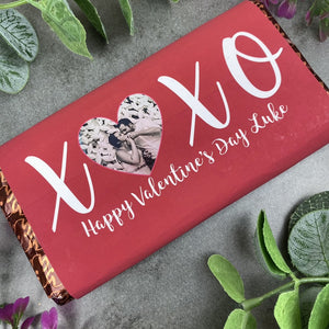 Personalised Love Heart Valentines Day Chocolate Bar