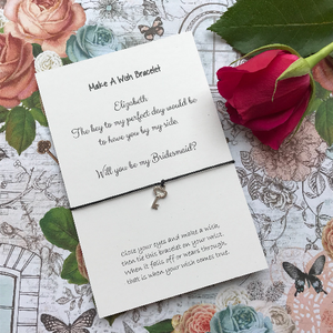 Bridesmaid Proposal - The Key To My Perfect Day... Wish Bracelet-3-The Persnickety Co