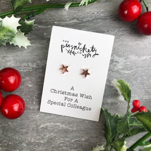 A Christmas Wish For A Special Colleague - Star Earrings-5-The Persnickety Co