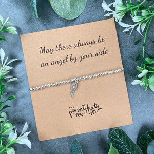 May There Always Be An Angel By Your Side Beaded Bracelet-3-The Persnickety Co