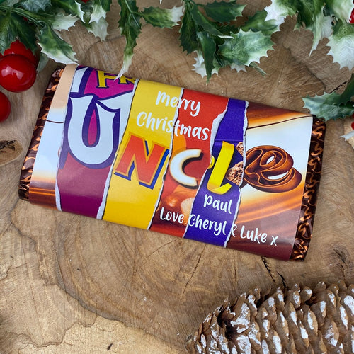 Personalised Uncle Chocolate Bar-The Persnickety Co