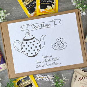 You're TEA-Riffic Personalised Tea and Biscuit Box-3-The Persnickety Co