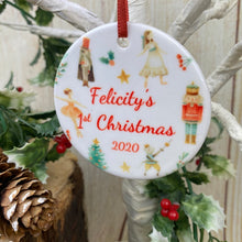 Load image into Gallery viewer, Nutcracker Babies 1st Christmas Hanging Decoration-2-The Persnickety Co