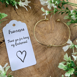 Knot Bangle - Thank You For Being My Bridesmaid-2-The Persnickety Co