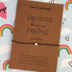 Step-Mums Like You Are Precious And Few Wish Bracelet-3-The Persnickety Co