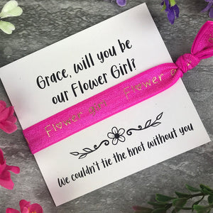 Flower Girl Proposal Hair Tie / Wrist Band-7-The Persnickety Co