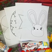 Load image into Gallery viewer, Personalised Colouring in Easter Bunny Kinder Box