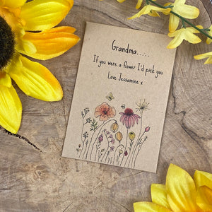 Grandma If You Were A Flower Mini Envelope with Wildflower Seeds-4-The Persnickety Co