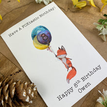 Load image into Gallery viewer, FOXtastic Birthday Card-3-The Persnickety Co
