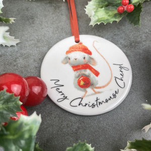 Personalised Christmouse Hanging Decoration-6-The Persnickety Co