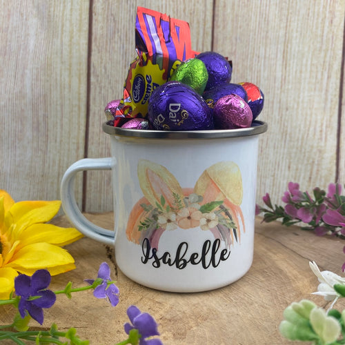 Easter Rainbow Personalised Enamel Mug-The Persnickety Co