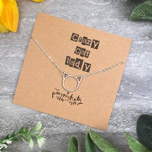 Load image into Gallery viewer, Silver Cat Necklace - Crazy Cat Lady