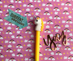 Bright Unicorn Gel Pen-5-The Persnickety Co