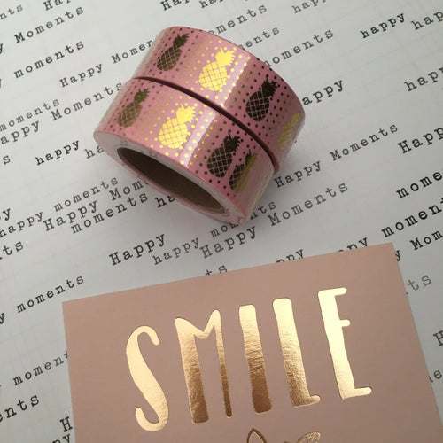 Pineapple Washi Tape - Pink-The Persnickety Co