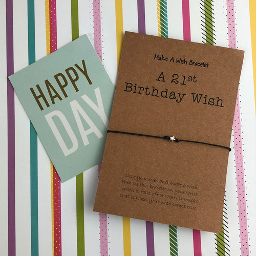 A 21st Birthday Wish - Star-The Persnickety Co