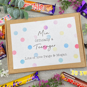 Officially A Teenager Personalised Chocolate Box-The Persnickety Co