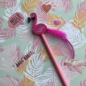 Novelty Pink Flamingo Pencil-The Persnickety Co