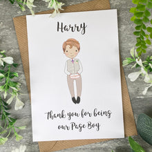 Load image into Gallery viewer, Thank You For Being Our Pageboy Card-9-The Persnickety Co