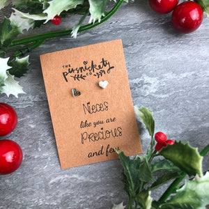 Nieces Like You Are Precious & Few Heart Earrings-9-The Persnickety Co