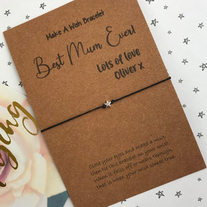 Best Mum / Mummy Ever Wish Bracelet-2-The Persnickety Co