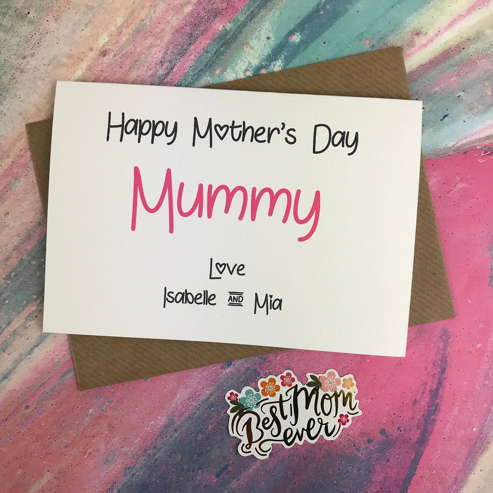 Happy Mother's Day Mummy/Mum/Mom/Mam Personalised Card-The Persnickety Co