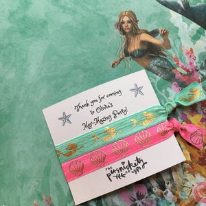 Personalised Mer-Mazing Party Hair Tie-5-The Persnickety Co