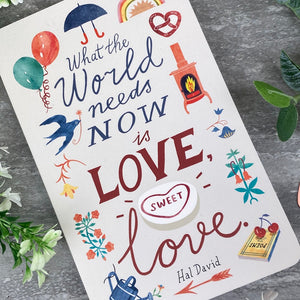 What The World Needs Now is Love, Sweet Love - Softcover Journal-4-The Persnickety Co