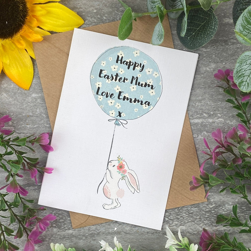 Happy Easter Balloon Rabbit Card-The Persnickety Co