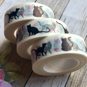 Black Cat Washi Tape-2-The Persnickety Co