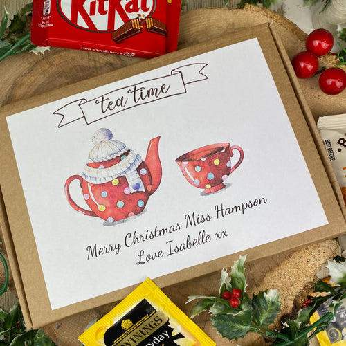 Teacher Christmas Tea & Biscuit Box-The Persnickety Co