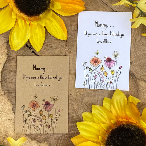 Mummy If You Were A Flower Mini Kraft Envelope with Wildflower Seeds-The Persnickety Co