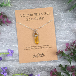 Crystal Necklace  - A Little Wish For Positivity