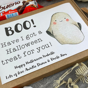 BOO Personalised Halloween Kinder Bueno Box
