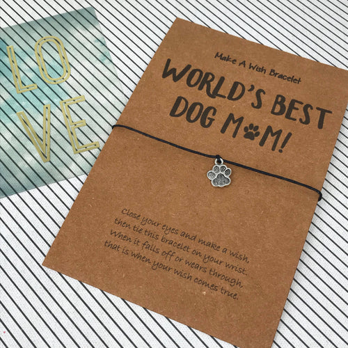 World's Best Dog Mum Wish Bracelet-The Persnickety Co