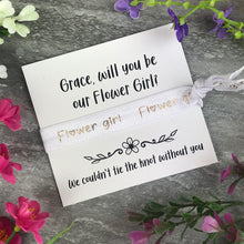 Load image into Gallery viewer, Flower Girl Proposal Hair Tie / Wrist Band-3-The Persnickety Co